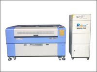 Cnc laser cutter with fume extractor from china manufacturer