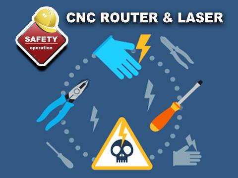 Points for safe operation of cnc laser cutter machine