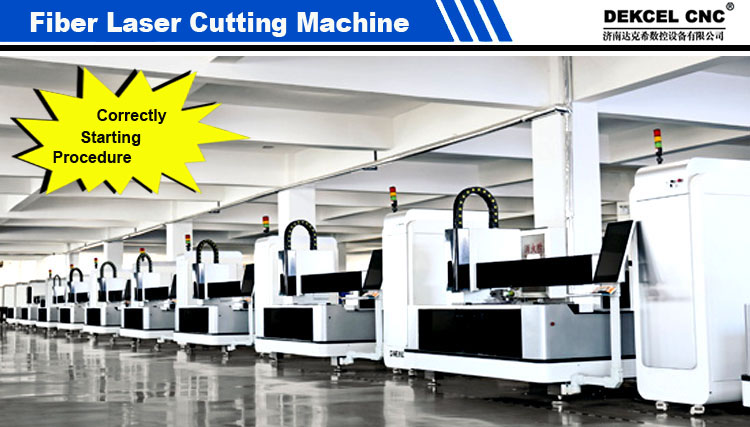 Correctly Starting !!! SS Metal Fiber Laser Cutter Machine