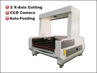 CCD visual double rails fabric laser cutting machine with auto feeding system
